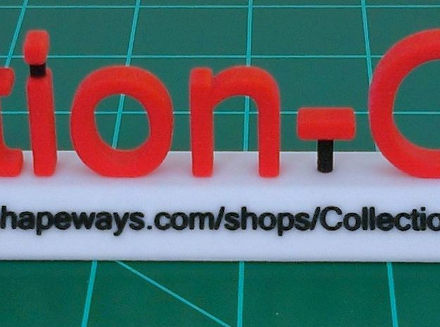 Collection-O-Stuff Sign 3d printed Front