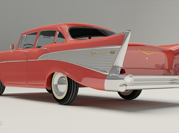 Chevrolet BelAir 57 3d printed See full work at: http://bit.ly/ZFlRfM