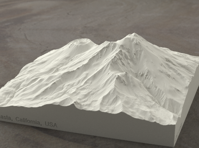 Radiance rendering of model, viewed from the SSE