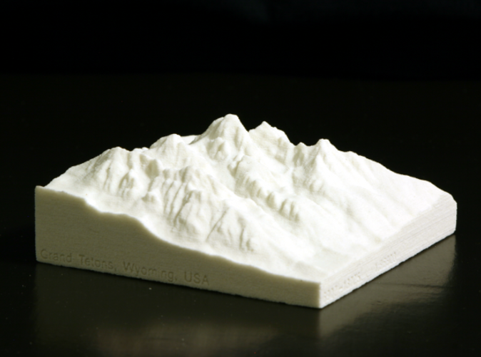 Photo of actual model, looking NW from over Jackson, WY.