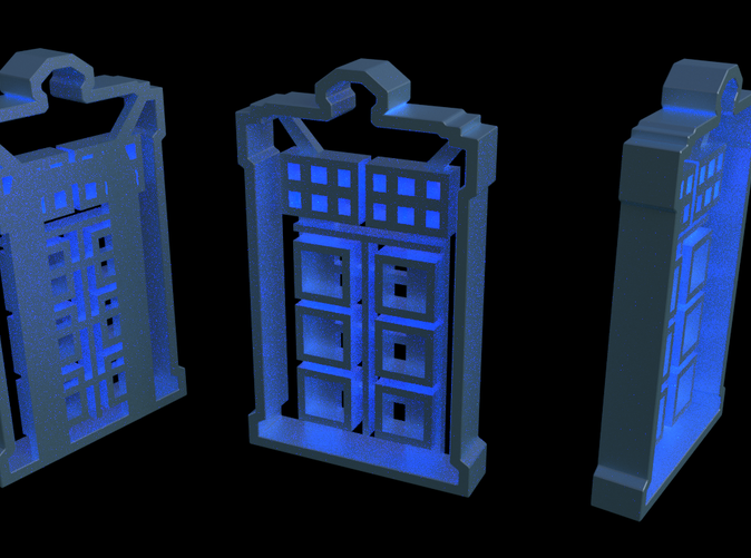 A few rendered views... sadly it is not bigger on the inside. Sorry.
