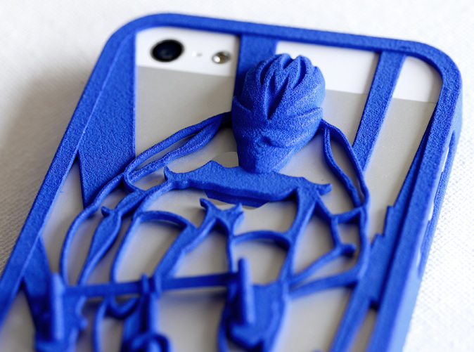 detail of Muscular Cyclist iPhone5/5s Case in royal blue