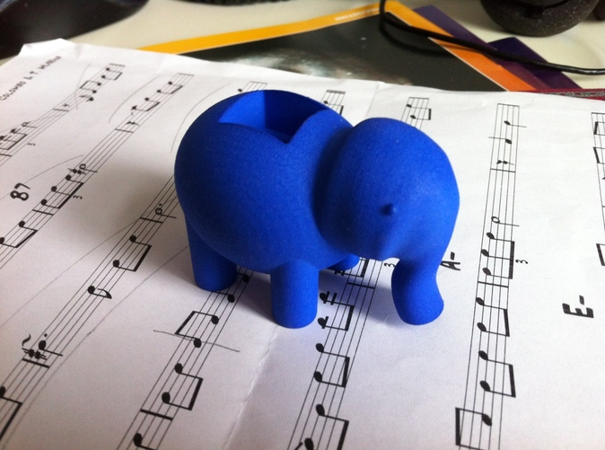 Little Blue Elephant, on its way ...