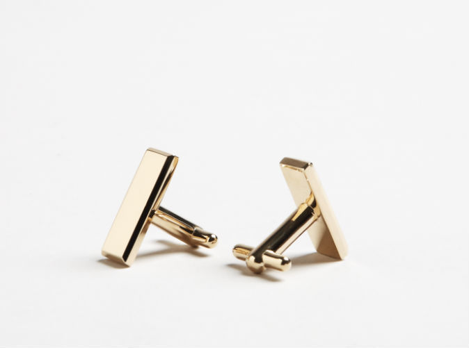 3-D printed Lieutenant bar cuff-links (shown in 14k gold finish)