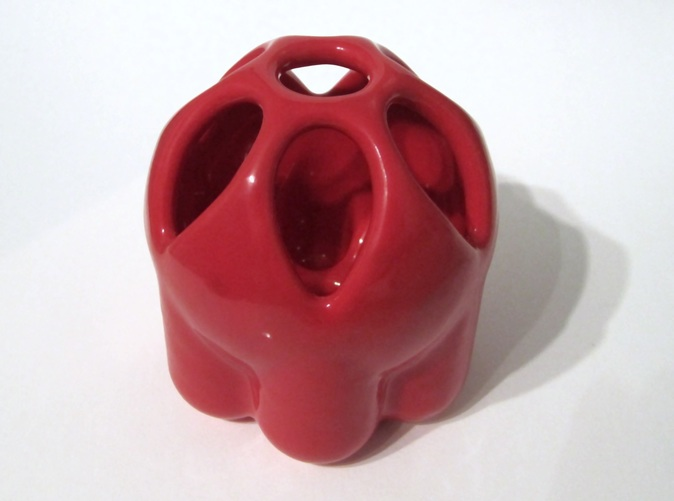 in Red Porcelain