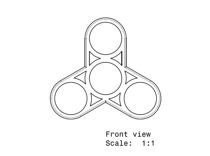 photograph about Printable Fidget Spinner Template known as Fidget Spinner Pdf