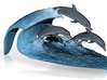 """Porpoise wave (small / 2"""" tall) 3d printed"""
