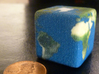 Cube Planet : Earth, 1 inch 3d printed