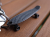 Mini Penny Board - 3D Printed in Stainless Steel 3d printed in Grey Steel