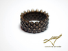 Snake Ring, Reptile Texture 3d printed