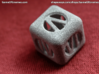 Small Cube Encased In Dice 3d printed Printed in Alumide