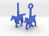 Horse (without Jockey) Earrings 3d printed