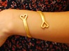 FLYHIGH: Open Hearts Bracelet 3d printed The Open Heart Bracelet stretched and twisted easily to fit snugly on the wrist