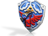 hilian shield Zelda colored for lego 3d printed