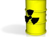 Radioactive Barrel, Yellow 3d printed Render of the Barrel