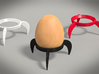 Egg Rocket Tripod Cup 3d printed rendering of tripods and egg
