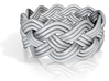 Turk's Head Knot Ring 4 Part X 11 Bight - Size 12 3d printed
