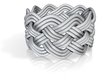 Turk's Head Knot Ring 5 Part X 10 Bight - Size 9.5 3d printed