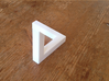 Escher Penrose Triangle 3d printed From this perspective you will see the penrose triangle!