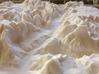 12'' Zion National Park Terrain Model, Utah, USA 3d printed East Temple features prominently in this picture, looking North up the Virgin River.