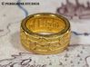 Ring - Prelude of Light (Size 13) 3d printed Gold Plated Glossy