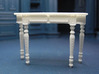 1:24 Colonial Console Table 3d printed Printed in White, Strong & Flexible