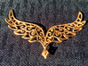 Angel Wings Pendant - precious metals 3d printed gold plated brass
