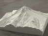 6'' Mt. Hood, Oregon, USA, Sandstone 3d printed Radiance rendering of Mt Hood terrain model from the West.