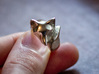 Fox Ring (size 7) 3d printed Polished Silver