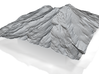 12'' Mt. Shasta Terrain Model, California, USA 3d printed