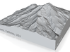 4'' Mt. Shasta, California, USA, Sandstone 3d printed