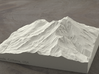 6'' Mt. Shasta, California, USA, Sandstone 3d printed Radiance rendering of model, viewed from the SSE