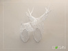 Wired Life Doe Large Facing Left 3d printed White Doe and White Stag