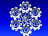 Snowflake of Cogs 3d printed Snowflake of Cogs