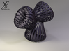 Triple Klein Bottle 3d printed Cycle render (black steel).
