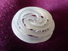 8 Strand Spiral Pendant 135° twist 15mm 3d printed Frosted Ultra Detail Plastic