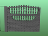 Concrete fencing spans at 1:87 HO scale 3d printed