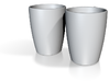 """Large Coffee Cups """"His & Hers"""" 3d printed"""