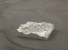 3''/7.5cm Mt. Blanc, France/Italy, Sandstone 3d printed Radiance rendering of model from the north
