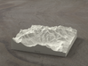 4''/10cm Mt. Blanc, France/Italy, Sandstone 3d printed Radiance rendering of model from the north