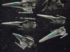 Corvan T-8 Light Fighter 1/270 3d printed