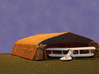 1/144 Bessonneau WWI Hangar Frame 3d printed Shown with fabric covering