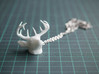 Deer Head Pendant 3d printed Deer Head Pendant - White