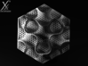 Schwartz D large (7.5 cm diameter) 3d printed Top view. A nice alignment of the hexagonal meshing (Cycle render)