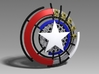 Captain America Shield: Prototype 3d printed