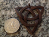 Large Celtic Knot Pendant (Inverted Triquetra) 3d printed Printed in steel with a bronze finish.