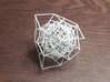 Inversion of Diamond Lattice 2 3d printed inverted diamond lattice shown in white strong and flexible plastic