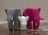 The Osseous Elephant 3d printed The miniature elephant shown here in white is also available from my shapeways shop