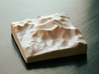 3''/7.5cm Mt. Everest, China/Tibet, Ceramic 3d printed Photograph of actual print, looking North over Lhotse to Everest