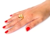 LOOP ring US Size 8 (18.2 mm) 3d printed Polished Bronze